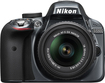 Nikon - D3300 DSLR Camera with 18-55mm VR Lens - Gray