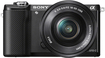Sony - Alpha a5000 Mirrorless Camera with 16-50mm Retractable Lens - Black