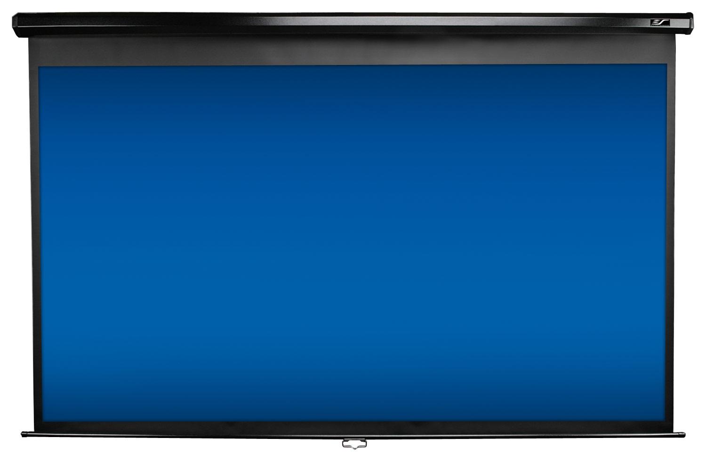 Elite Screens - Pull-Down Projector Screen - Black