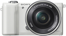 Sony - Alpha a5000 Mirrorless Camera with 16-50mm Retractable Lens - White