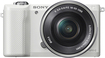 Sony - Alpha a5000 Compact System Camera with 16-50mm Retractable Lens - White