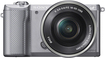 Sony - Alpha a5000 Compact System Camera with 16-50mm Retractable Lens - Silver