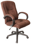 Comfort Products Inc. - Padded Microfiber Executive Chair - Dark Brown