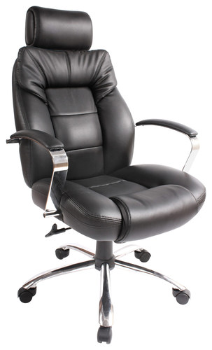 Comfort Products Inc. - Commodore II Big & Tall Leather Executive Chair - Black