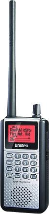 Uniden - TrunkTracker IV 25,000-Channel Portable Compact Handheld Analog/Digital Scanner - Black/Silver