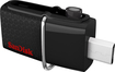 SanDisk - Ultra 32GB Micro USB/USB 3.0 Flash Drive - Black