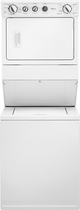 Whirlpool - 2.5 Cu. Ft. 8-Cycle Washer and 5.9 Cu. Ft. 6-Cycle Dryer Gas Laundry Center