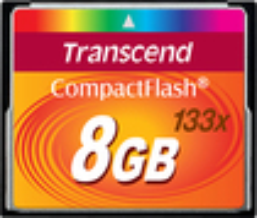 Transcend - 133x 8GB CF I Memory Card - Black