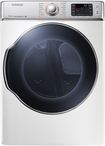 Samsung - 9.5 Cu. Ft. 15-Cycle Steam Gas Dryer - White