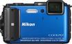 Nikon - Coolpix AW130 16.0-Megapixel Digital Camera - Blue