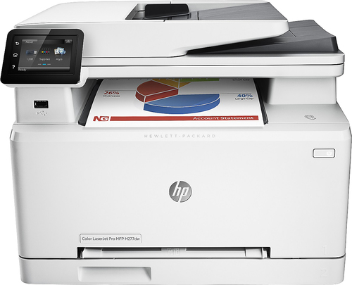 HP - LaserJet Pro M277dw Wireless Color All-In-One Printer - Gray