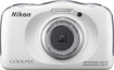 Nikon - Coolpix S33 13.2-Megapixel Digital Camera - White