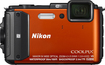 Nikon - Coolpix AW130 16.0-Megapixel Digital Camera - Orange