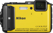 Nikon - Coolpix AW130 16.0-Megapixel Digital Camera - Yellow