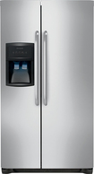 Frigidaire - 22.6 Cu. Ft. Side-by-Side Refrigerator with Through-the-Door Ice and Water - Stainless-Steel