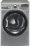 Lg - Steamdryer 7.3 Cu. Ft. 12-cycle Ultra-large Capacity Steam Gas Dryer - Graphite Steel
