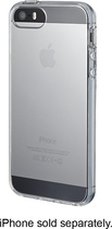 Insignia™ - Soft-Shell Case for Apple® iPhone® 5 and 5s - Clear