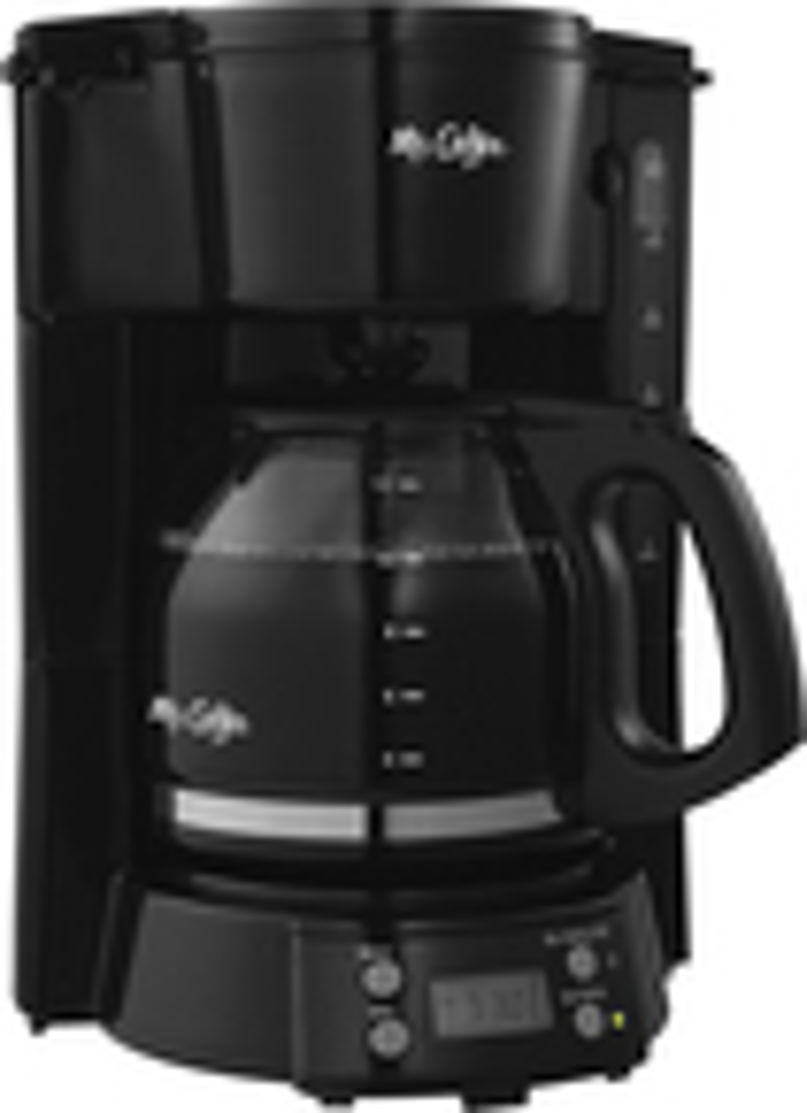 Mr. Coffee - 12-Cup Programmable Coffeemaker - Black