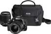 Nikon - D3200 DSLR Camera with 18-55mm and 55-200mm Lenses - Black