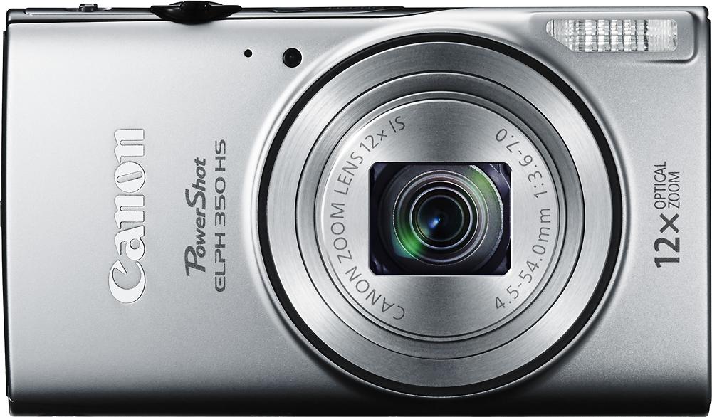 Canon - PowerShot ELPH 350 HS 20.2-Megapixel Digital Camera - Silver