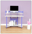 Calico Designs - Corner Computer Desk - Purple