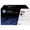 HP - CE505D LaserJet Print Cartridge Twin-Pack - Black