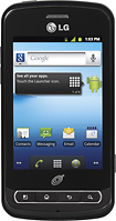 NET10 - LG Optimus Q No-Contract Mobile Phone - Black