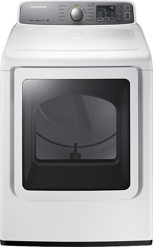 Samsung - 7.4 Cu. Ft. 11-Cycle Steam Gas Dryer - White