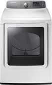 Samsung - 7.4 Cu. Ft. 11-Cycle Steam Gas Dryer - White