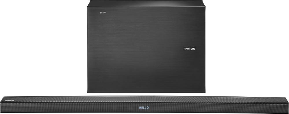 "Samsung - 4.1-Channel Soundbar with 7"" Wireless Subwoofer - Black"