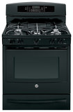 "GE - Profile Series 30"" Self-Cleaning Freestanding Dual Fuel Convection Range - Black"