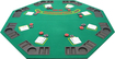 "Trademark Global - 48"" x 48"" Folding Poker/Blackjack Tabletop - Green"