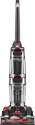 Hoover - Power Path Deluxe Upright Deep Cleaner - Iron Ore Metallic/Genesis Red