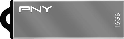 PNY - Metal Attaché 16GB USB 2.0 Flash Drive - Gray