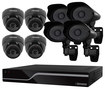 Defender - PRO SENTINEL 16-Channel, 8-Camera Indoor/Outdoor Security System - Black