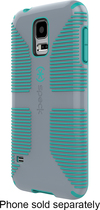 Speck - CandyShell Grip Case for Samsung Galaxy S 5 Cell Phones - Gray/Blue