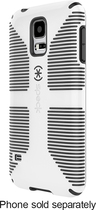 Speck - CandyShell Grip Case for Samsung Galaxy S 5 Cell Phones - White/Black