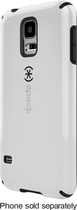 Speck - CandyShell Case for Samsung Galaxy S 5 Cell Phones - Nickel White/Black