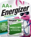 Energizer - NiMH Rechargeable Batteries AA (4-Pack)