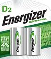 Energizer - NiMH Rechargeable Batteries D (2-Pack)