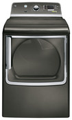 GE - 7.8 Cu. Ft. 13-Cycle Steam Electric Dryer - Metallic Carbon