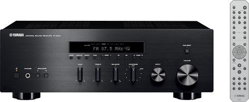 Yamaha - 100W 2.0-Ch. Stereo Receiver - Black