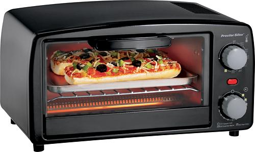 Proctor Silex - Extra-Large 4-Slice Toaster Oven Broiler - Black