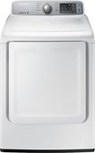 Samsung - 7.4 Cu. Ft. 9-Cycle Gas Dryer - White