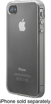 Insignia™ - Soft-Shell Case for Apple® iPhone® 4 and 4S - Clear