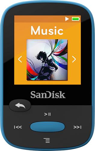SanDisk - Clip Sport 8GB* MP3 Player - Blue