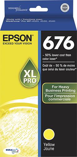 Epson - 676 XL High-Yield Ink Cartridge - Yellow