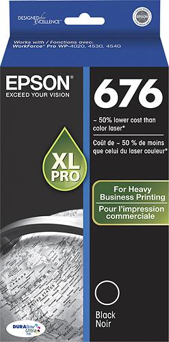 Epson - 676 XL High-Yield Ink Cartridge - Black