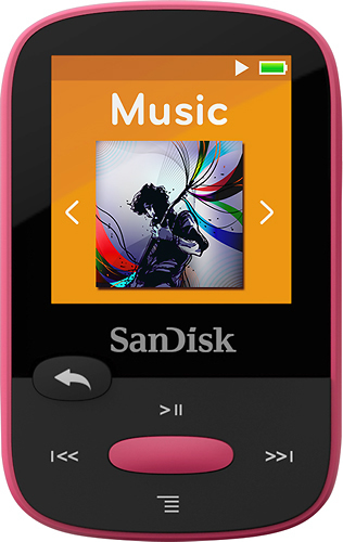 SanDisk - Clip Sport 8GB* MP3 Player - Pink