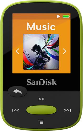 SanDisk - Clip Sport 8GB* MP3 Player - Lime